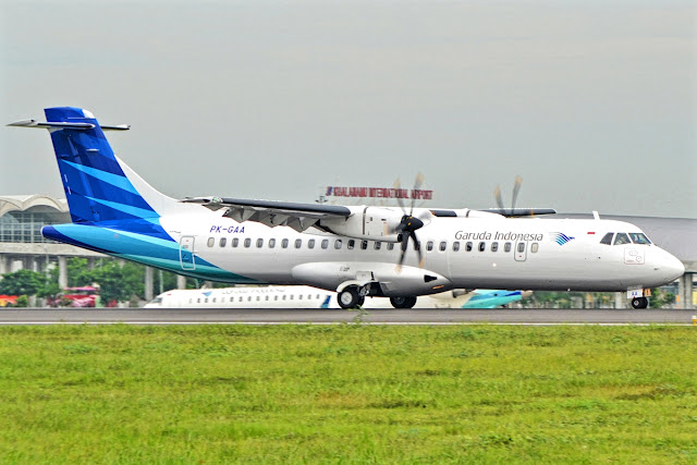 ATR 72-600 of Garuda Indonesia After Touch Down To Apron