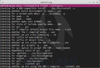 Setelah diekstrak lalu pindah ke direktori leafpad lalu konfigure sorce code nya