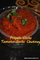 tomato-garlic chutney