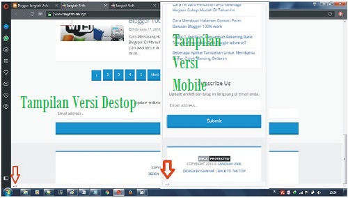 cara menghapus tag body yang muncul di halaman bawah kiri blog
