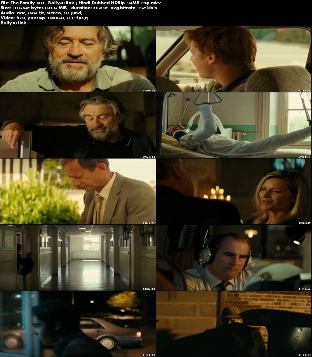 The Family 2013 HDRip 850MB Hindi Dubbed 720p Download