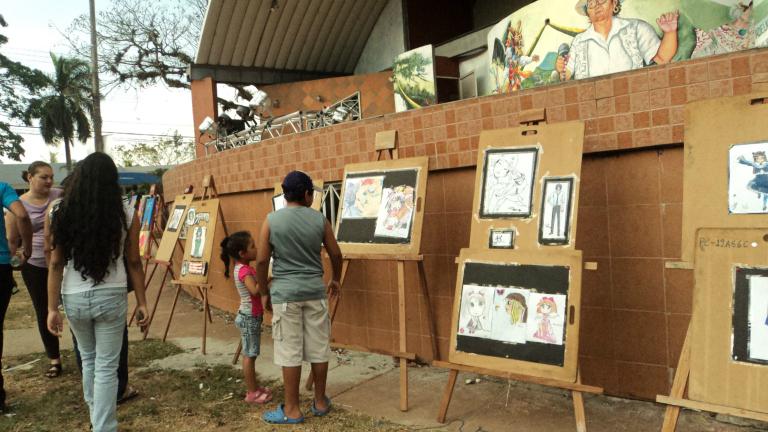 Galería de dibujos manga en La Chorrera