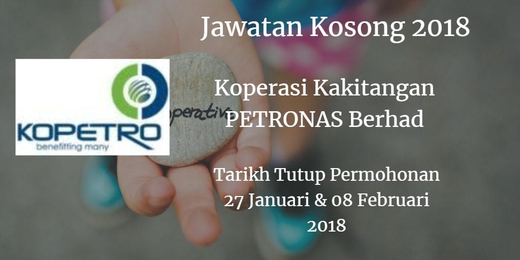 Jawatan Kosong KOPETRO 27 Januari - 08 Februari 2018