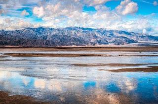 Se forma lago en desierto de los estados unidos.