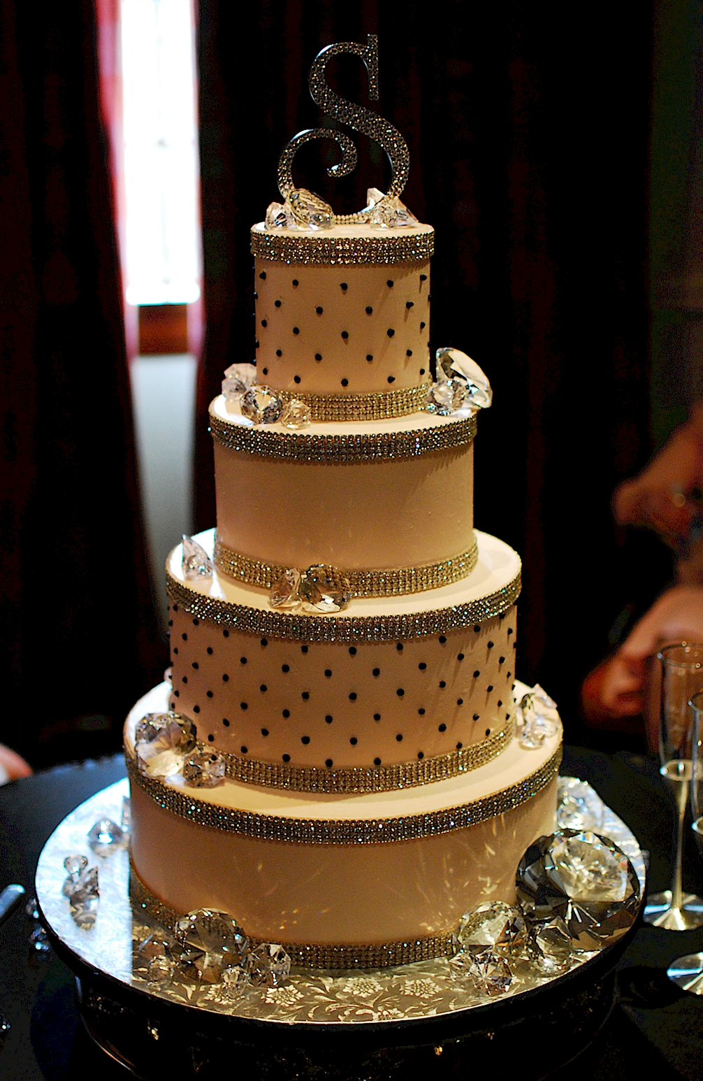 white wedding cake with gold bling cup a cakes bling wedding cake 27410