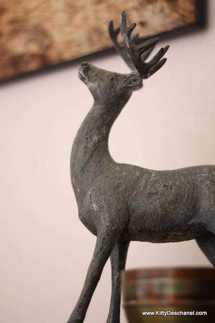small deer statue