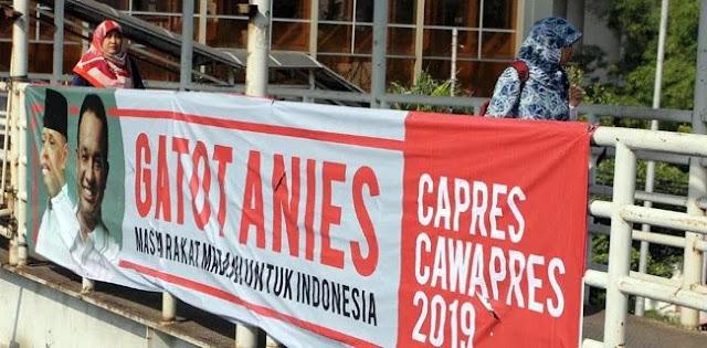 Spanduk Gatot-Anies For Capres-Cawapres Mulai Bertebaran di Jakarta, Duh, Pak Prabowo Ditinggal?
