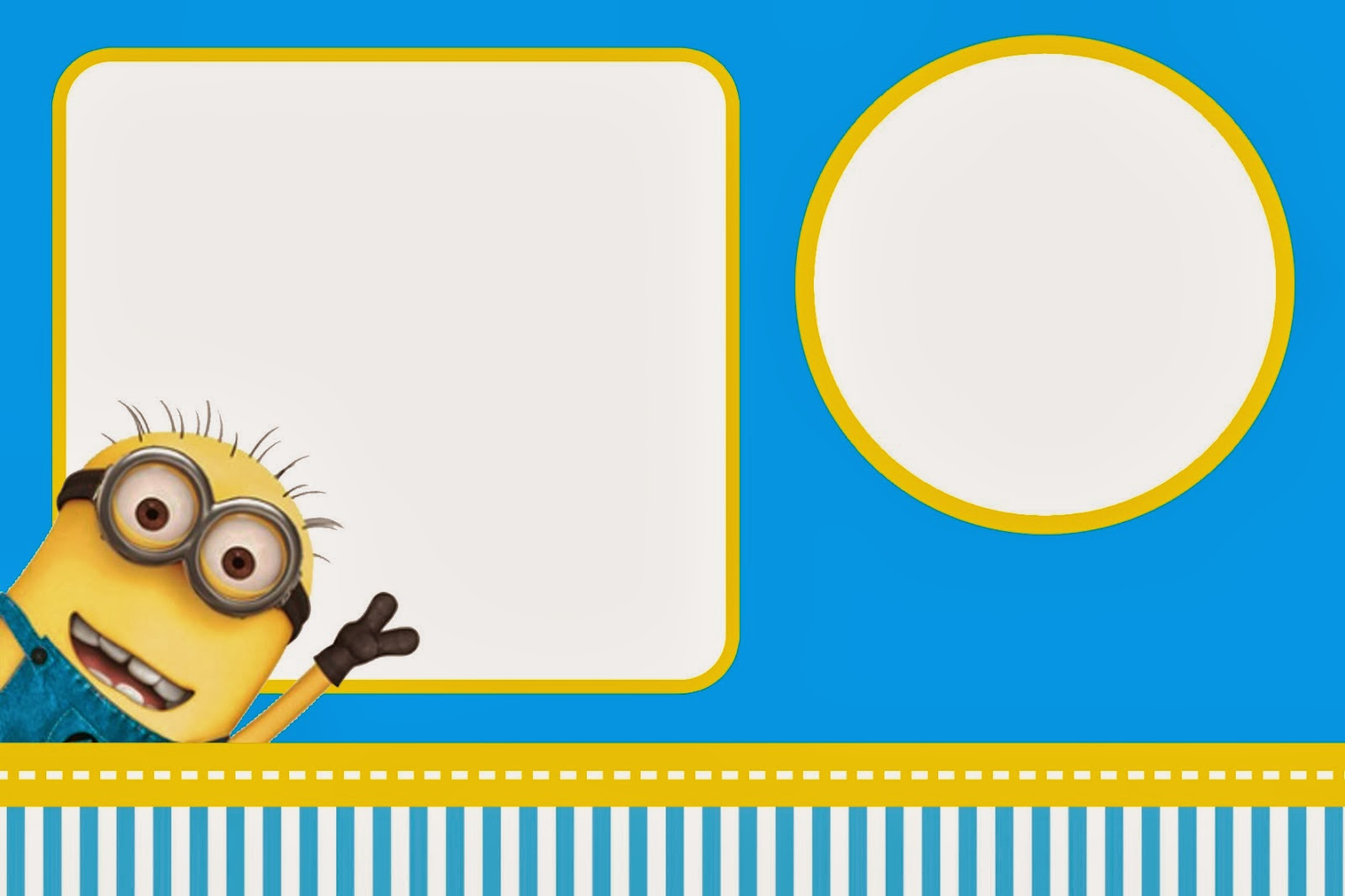 image about Minions Printable Invitations identified as Despicable Me: Invites and Celebration Absolutely free Printables. - Oh