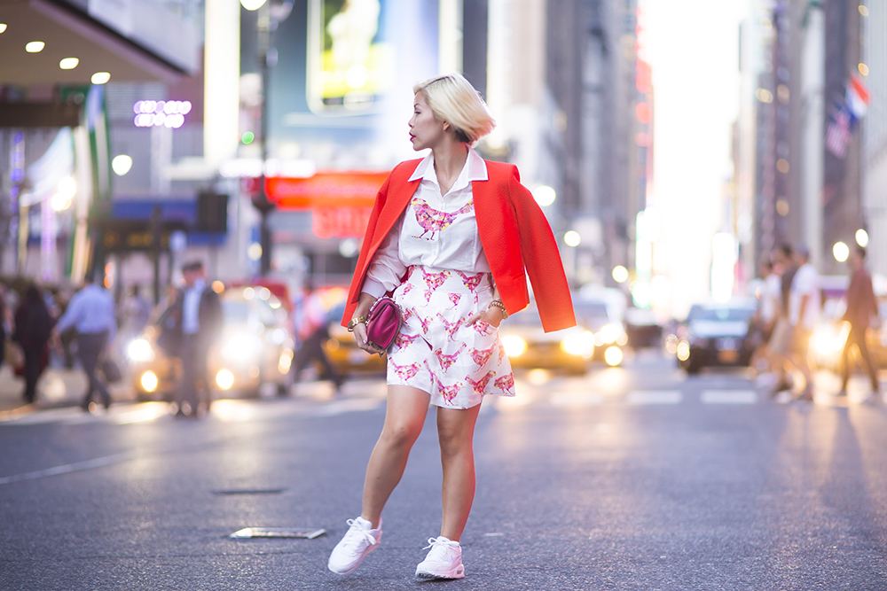 New York Fashion Week 2015- Crystal Phuong in Lie by Lie outfit- Street style