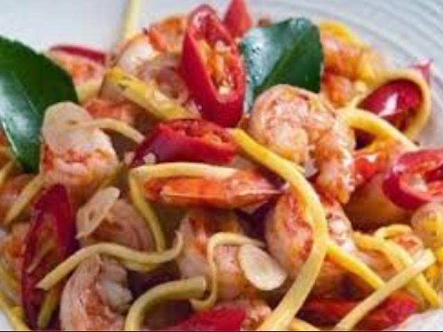Seafood Udang kepiting Mangga Bakar Cincang