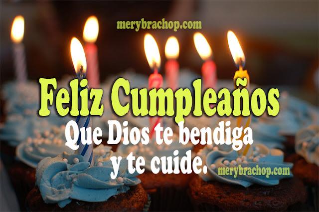 Frases cristianas de Cumpleaños con video por Mery Bracho. Mensajes cristianos para felicitar el cumpleaños.