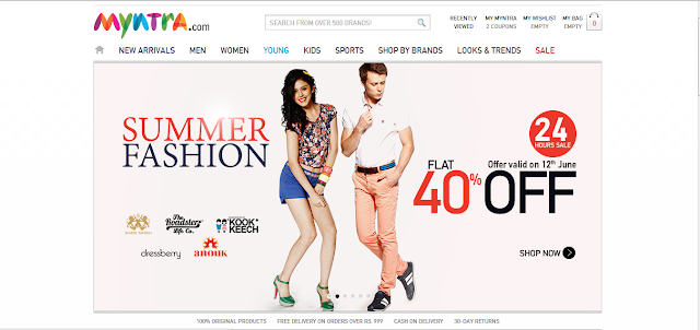 Myntra.com online shopping Review