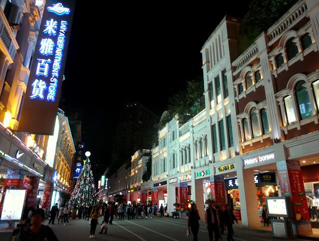 Colonial Buildings Zhongshan Lu Pedestrian Street in Xiamen, China