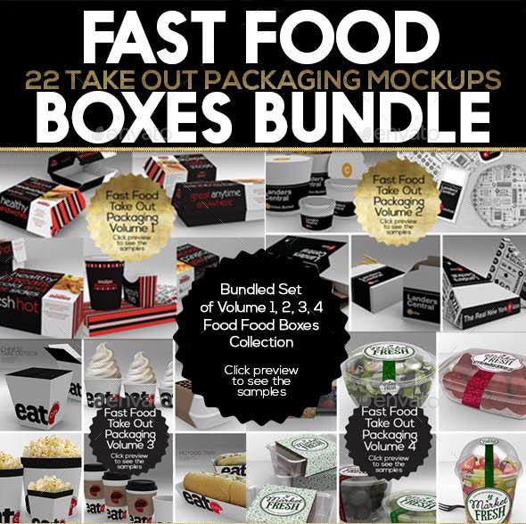 Fast Food Boxes Bundle