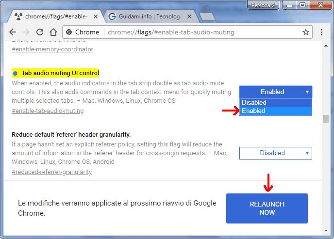 Chrome pagina chrome flags funzioni sperimentali