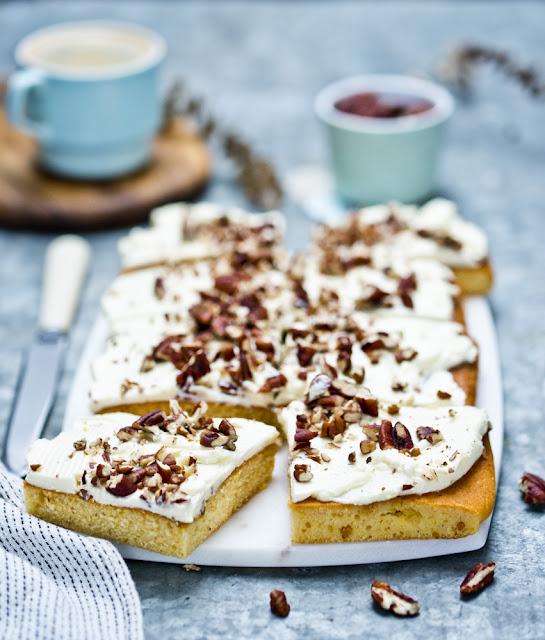 ciasto waniliowe z kremem mascarpone