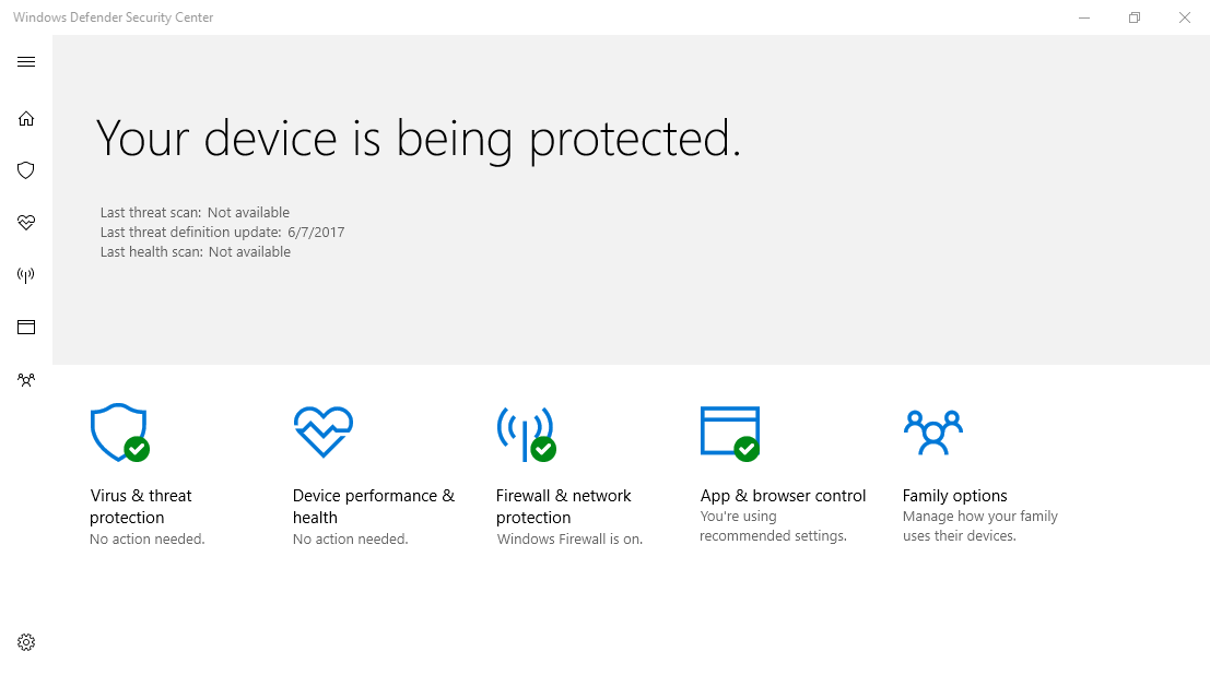 Hướng dẫn tắt Windows Defender Antivirus trong Windows 10, Version 1703
