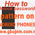 Unlock passwords and locked pattern  on an Android smartphone without flashing or losing data