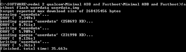 fastboot flash userdata userdata.img