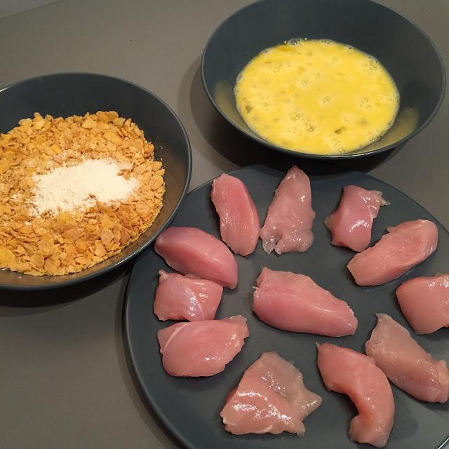 Ingrédients pour nuggets de poulet