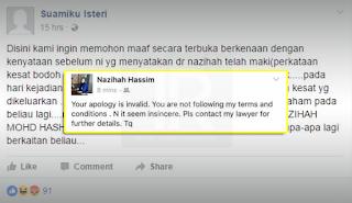 Lempar Fitnah, Sepasang Suami Isteri Menggigil Dapat Surat Saman
