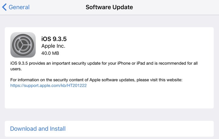 iOS 9.3.5 IPSW Download