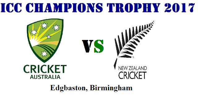 ICC Champions Trophy 2017 Match Preview and where to watch live Australia vs New Zealand Match 2