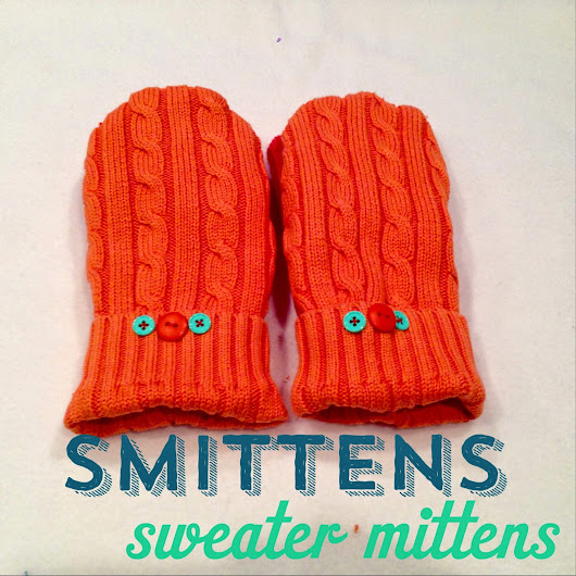 Ahmelie: Oofta Studio: Smittens: A Sweater to Mittens Tutorial