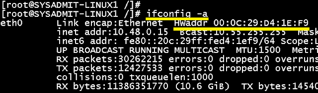 Linux: Saber dirección MAC