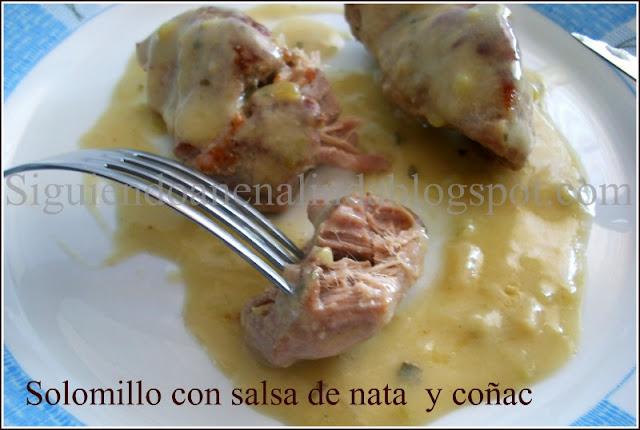 Siguiendo a nenalinda solomillo en salsa de nata y co ac - Salsa de oporto para solomillo ...