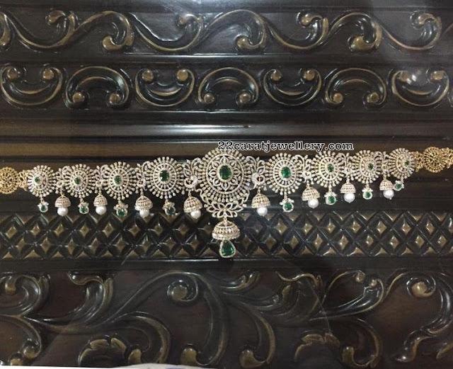 Jhumka Design Diamond Vaddanam