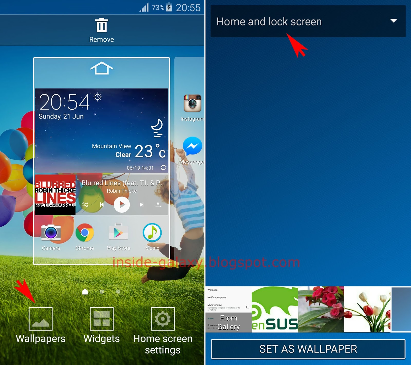 Samsung Galaxy S4 How To Change Home And Lock Screens Wallpaper At