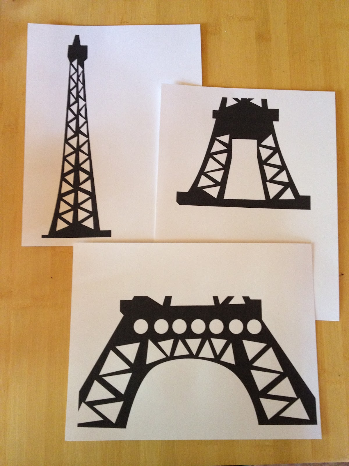 Liddy b and me eiffel tower paper project for Eiffel tower model template