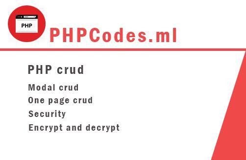 PHP crud
