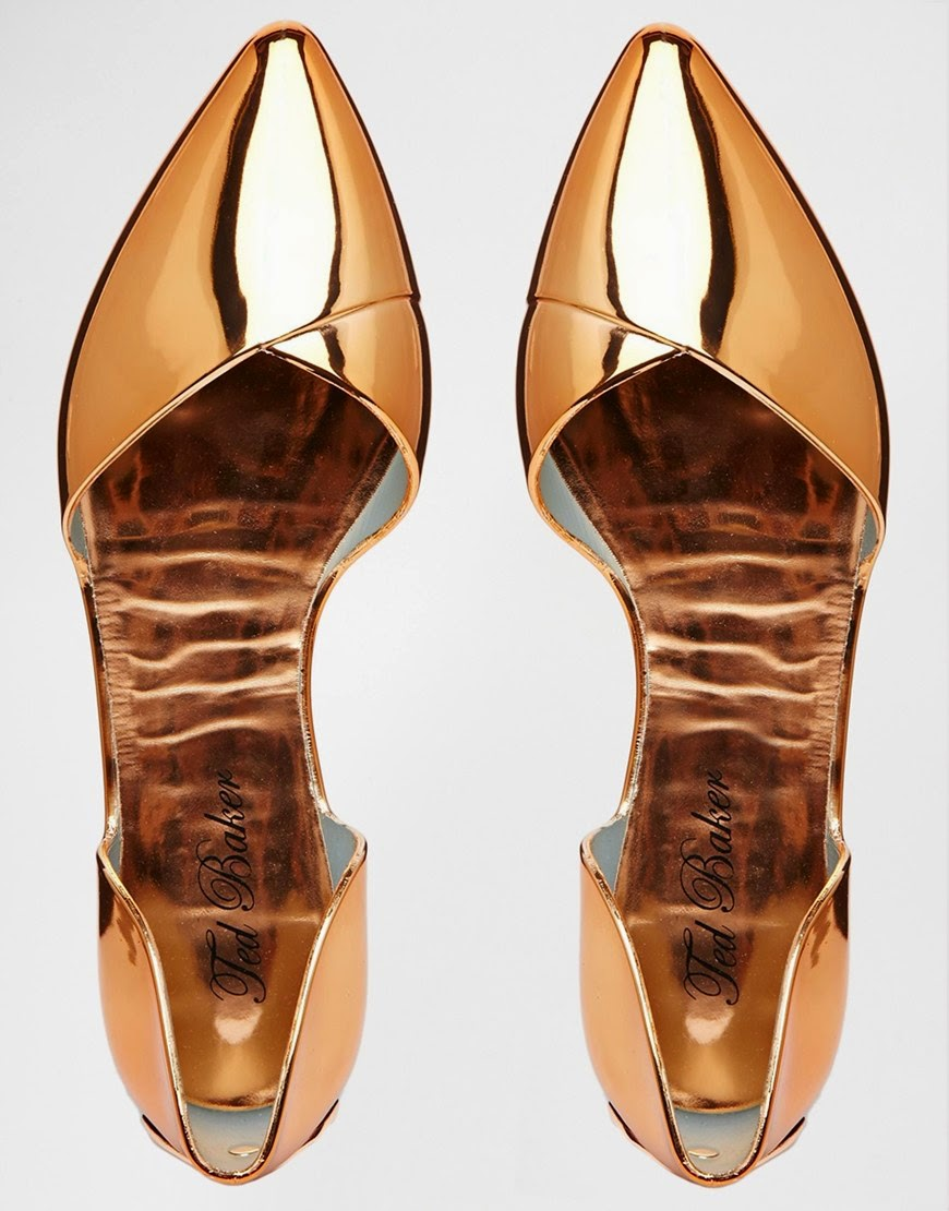1d0e1a319e05 Need Want Now: Ted Baker Rose Gold Flats & more   KUIYA'S KLOSET