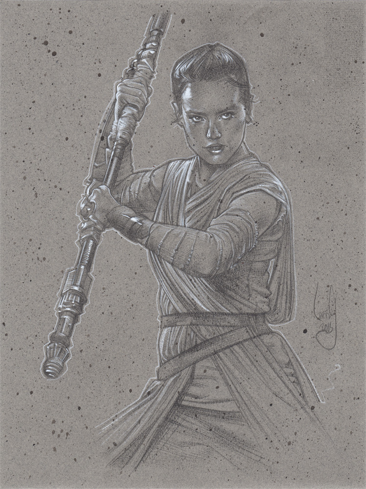 Daisy Ridley as Rey Art © JEFF LAFFERTY 2015