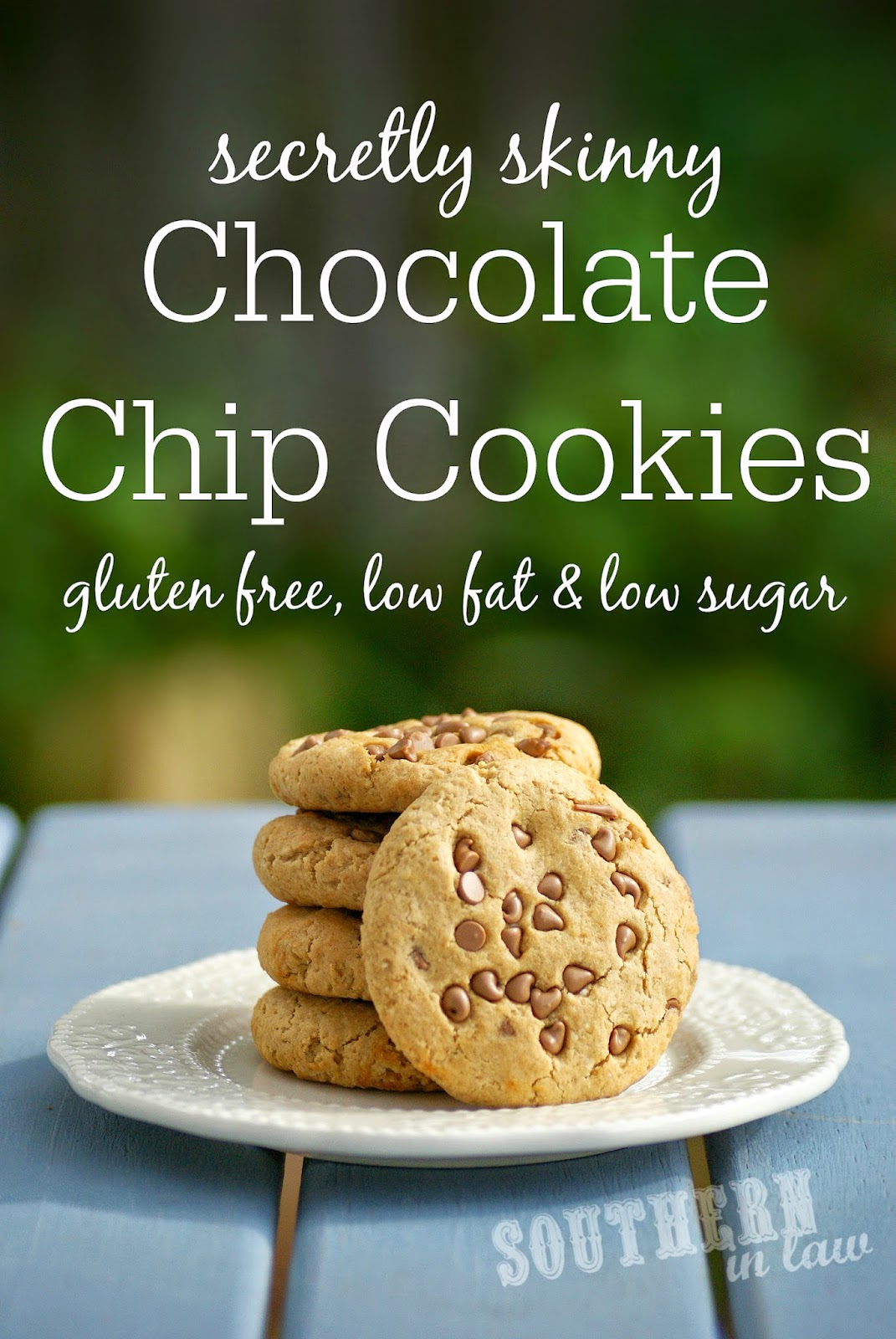Gluten Free and Low Fat Chocolate Chip Cookies Recipe - gluten free, low fat, low sugar, healthy - small batch cookie recipe