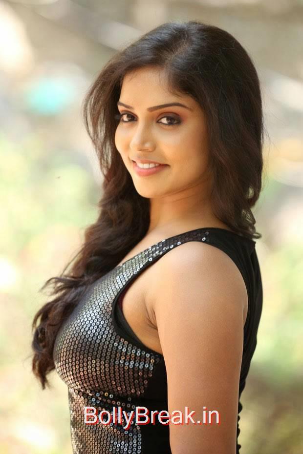 Tollywood Actress Karunya, Actress Karunya Hot Pics  in Black Top