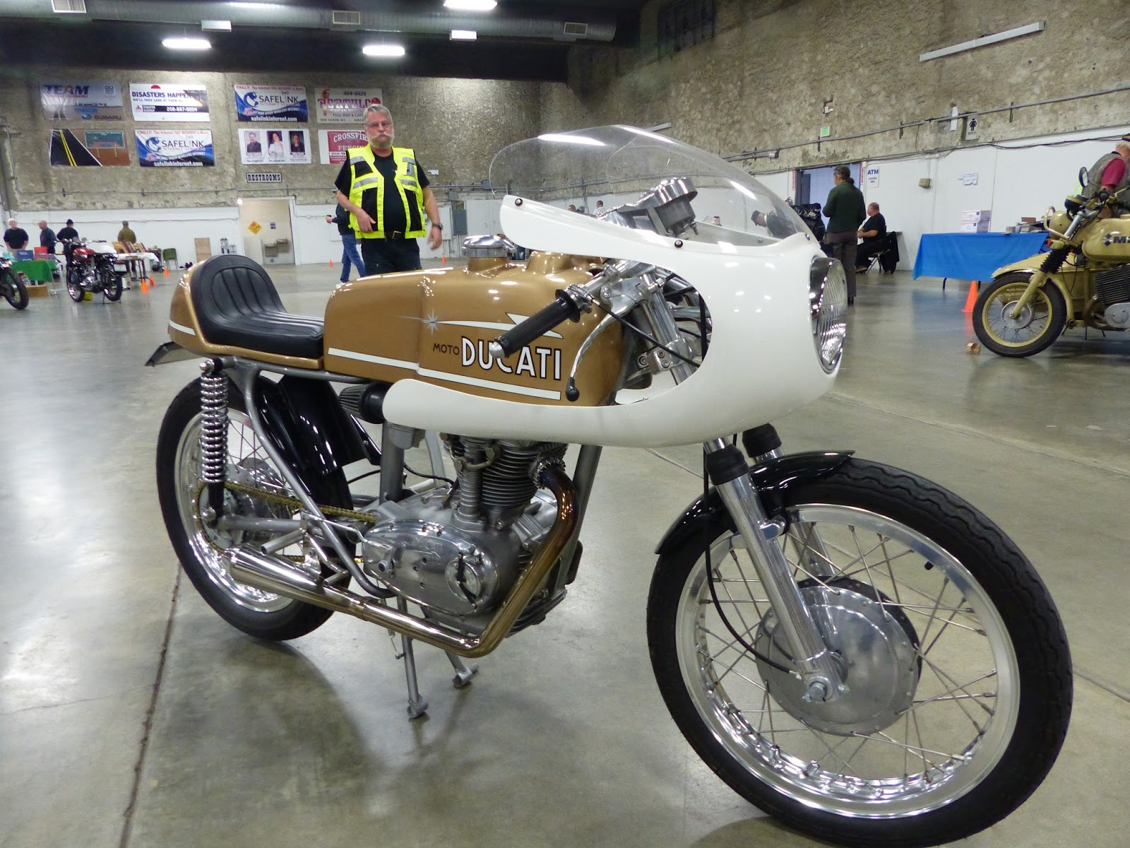 1965 Ducati 250 Monza Cafe Racer On Display At The 2016 Idaho Vintage Motorcycle Show Caldwell Id