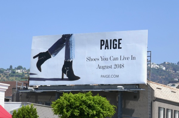 Paige Shoes can live in Aug 2018 billboard