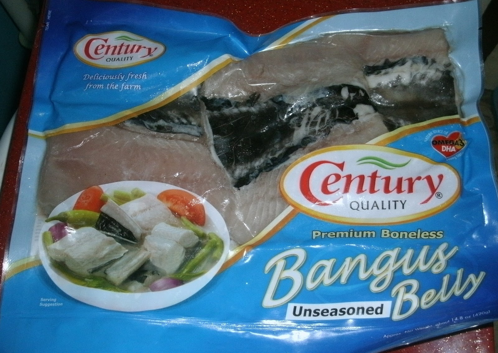 Image of packaged boneless bangus from the Philipppines