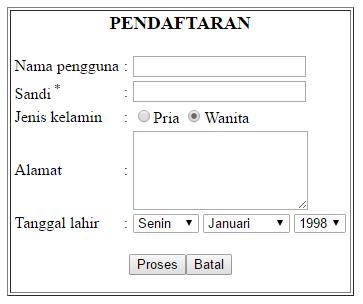 Cara Membuat Form Pendaftaran Sederhana HTML