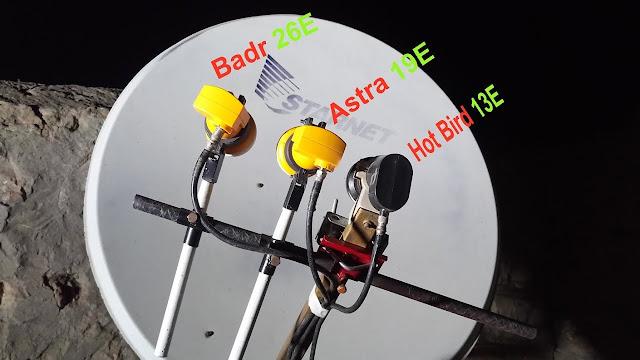ضبط المسطرة على طبق 110 hot bird - astra - badr