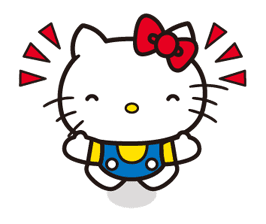 Hello Kitty Line Stickers Cute Animated