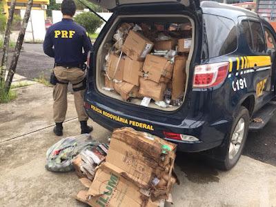 PRF recupera carga roubada na Régis Bittencourt em Miracatu