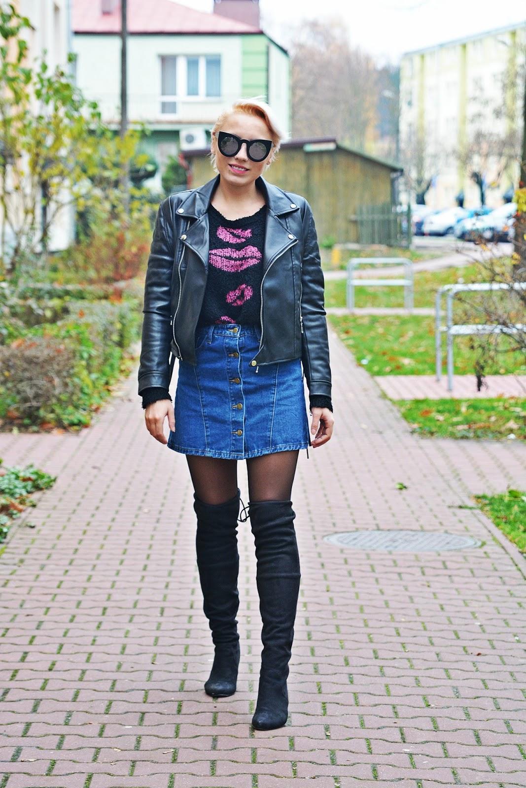 jeansowa_spodnica_skorzana_ramoneska_buty_za_kolano_karyn1