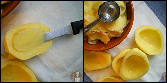 Vaciado de las patatas