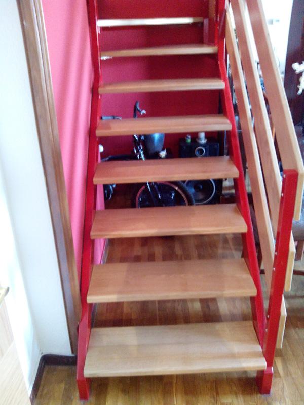 Escalera a medida en roble muebles cansado zaragoza carpintero ebanista artesano - Muebles a medida en zaragoza ...
