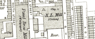 X.L. Mill, OS map, 1907.