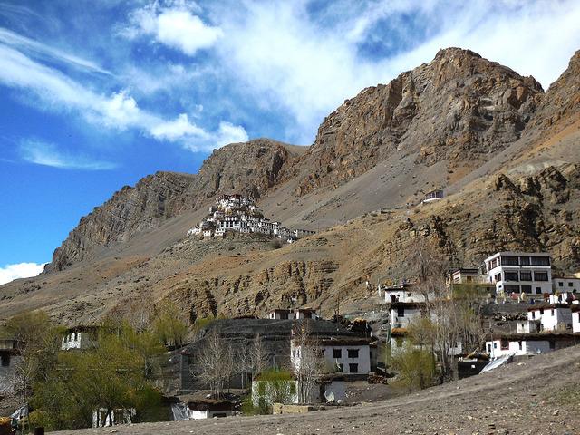 Ki monastery at a distance